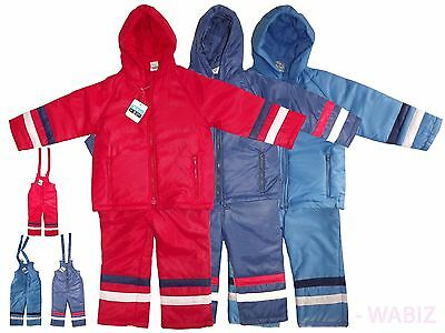 New Kids Dripdrop Hooded All In One Padded Waterproof Rainsuit Snow Suit Rrp £39
