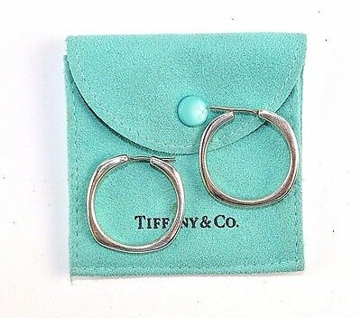 "Tiffany & Co. Sterling Silver ""cushion"" Collection Earrings J64"