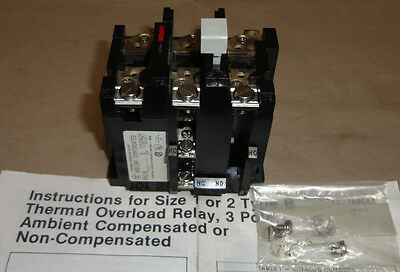 Westinghouse BA13A Thermal Overload Relay 3 Pole For Electric Motor Starter NEW