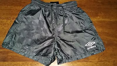 Umbro Boys Girls Black Athletic Soccer Shorts Size XXS