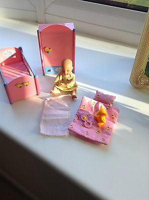 Zaps Mini Baby Born Doll And Nursery Set
