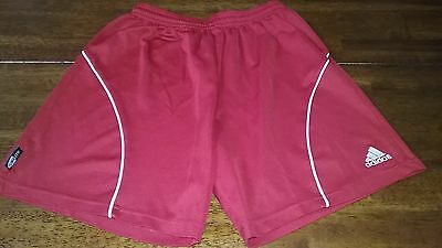 Adidas Climalite Red Soccer Athletic Shorts Boys Girls Size Youth Large