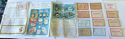 Collection Of 12 Vintage Nabob Coupons Assorted Advertisements Partial Catalogue