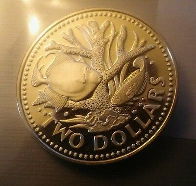 1974 Barbados Two Dollar Coin Proof