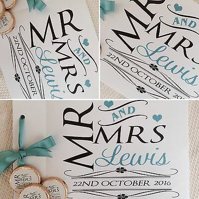 Personalised Mr And Mrs Wedding Guest Book, Memory Album In Any Colour