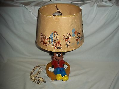 Vintage Walt Disney World Mickey Mouse Lamp with Shade