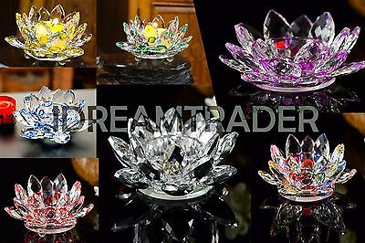 Crystal Lotus Flower Candle Holder Crystal Tealight Candle Holder With Gift Box