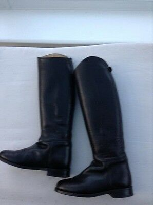 REGENT LEATHER RIDING BOOTS.40 (6.5).SUPERB LONG BOOTS MADE in ENGLAND.