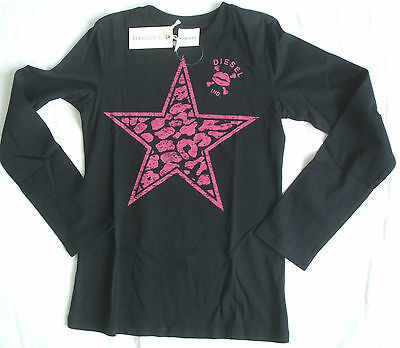 Bnwt Diesel Girls Long Sleeved T Shirt Size Small 8 Years Rrp £39