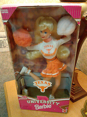 University of Texas Cheerleader Blonde 1997 Barbie Doll