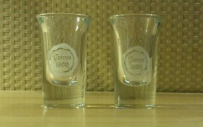 Set of Two Cuervo 1800 Shot Glasses by Libby