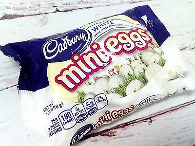 Cadbury White Chocolate Mini Eggs Limited Easter Seasonal Candy 7oz