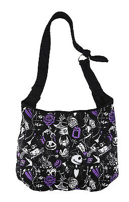 NEW Disney The Nightmare Before Christmas Sketched Icons Hobo Bag Purse