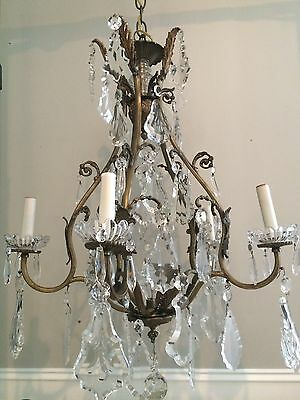 French Antique Crystal Chandelier Huge Crystals,High Quality! Large Size!