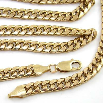 """Heavy 10K Yellow Gold Curb Cuban Chain Link Necklace 28.25""""  6mm QZ"""