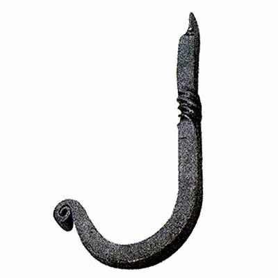 Hook Wrought Iron Black Single 3 1/2H X 1 1/4 Proj | Renovators Supply