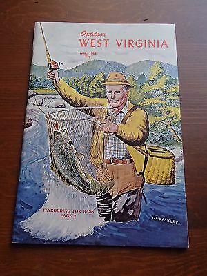 1968 Outdoor West Virginia Magazine Bass Fly Fishing Issue