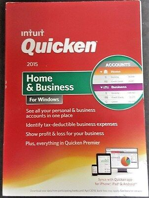 Intuit Quicken 2015 Home and Business for Windows BRAND NEW