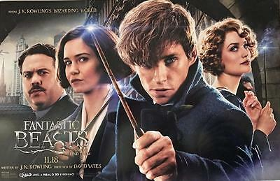 "FANTASTIC BEASTS AND WHERE TO FIND THEM 11""x17"" Original Promo Movie Poster AMC"