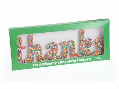 THANKS - Chocolate Letter Word New Great Gift Present Birthday