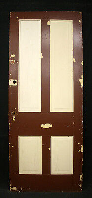 "4 avail 32""x79"" Antique Victorian Interior Solid Wood Wooden Door 4 Raised Panel"