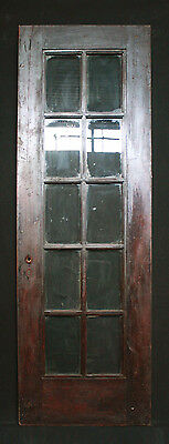 "27""x 80"" Antique Arts & Crafts Interior Entry French Birch Door 10 Glass Lites"