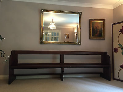 Antique Church Pew Chapel / Pub Bench Long Hall / Kitchen Settle Seat Restored
