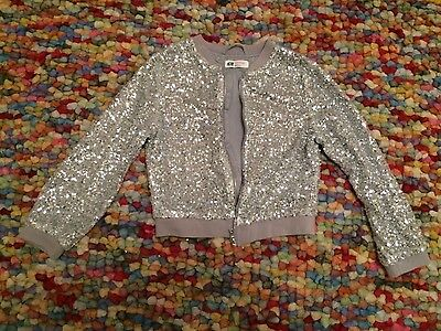 Sparkly bomber jacket age 12-13