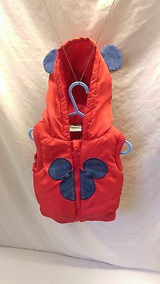 Disney Baby Mickey Mouse Puffer Gilet (Sleeveless jacket) 12-18 Months