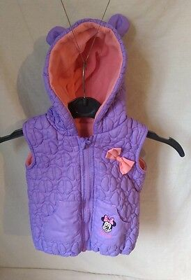 Minnie Mouse Pink Puffer Gilet (sleeveless jacket) Disney At George Free P&P