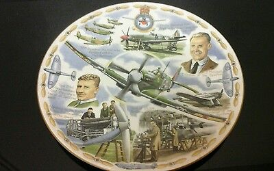 Royal Worcester Legends of the Air The Spitfire Plate limited edition of 2000