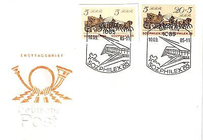 DDR FDC Mi.Nr. 2965-2966 mit GA-Ausschnitt /First Day Cover East Germany/ Lot 58