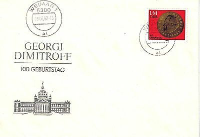 DDR FDC Mi.Nr. 2708 Blockmarke aus Block 68/First Day Cover East Germany/ Lot 57