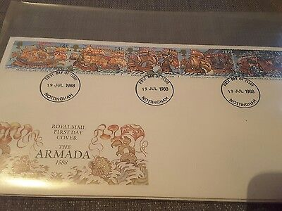 Royal Mail First Day Of Issue Cover. The Armada 1588