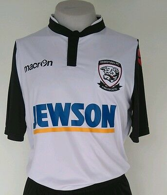 Hereford Fc Official Home Shirt,  2016/17 Macron Adults Size Medium