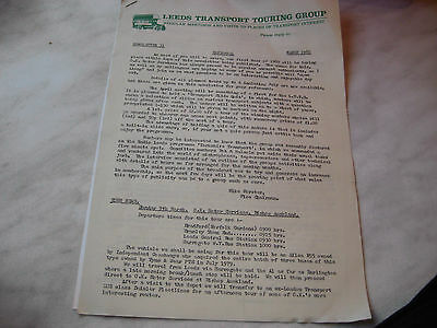 Leeds Transport Touring Group - Newsletter 31 (March 1980)
