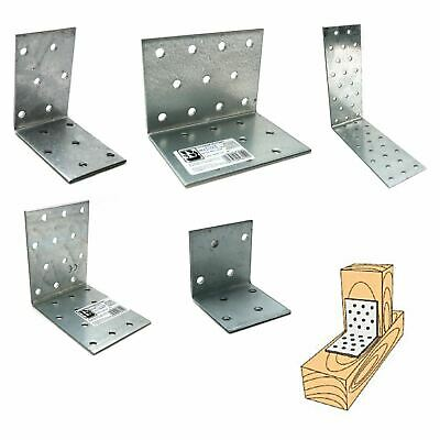 Heavy Duty 2mm Galvanised Reinforced Corner Angle Bracket Packs
