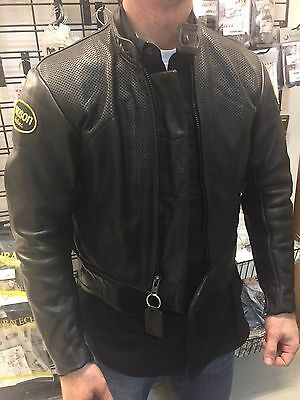 Vanson Summer Leather Motorcycle Jacket - ProPerf - Size 42 (consignment)