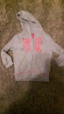 "Baby Girl George "" super star"" zip up jacket age 1-1 1/2...12-18 months"