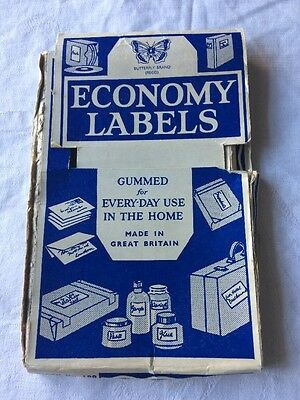 Vintage Economy Labels Packaging