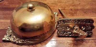 Vintage Antique Victorian Style Twist Key Brass Door Bell Restoration Hardware
