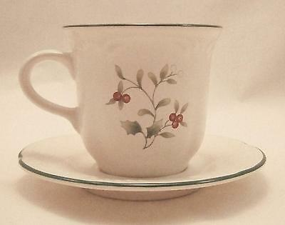 """Pfaltzgraff """"Winterberry"""" Cup & Saucer Excellent Condition"""