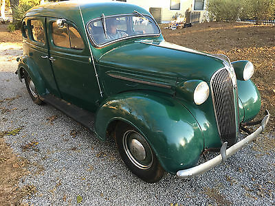 1937 Plymouth Other Standard - Original 1937 Plymouth 4 Door Green 6-cylinder flathead