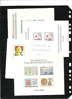 stamps,Chile sheet lot of 4 , very nice conditions as scans