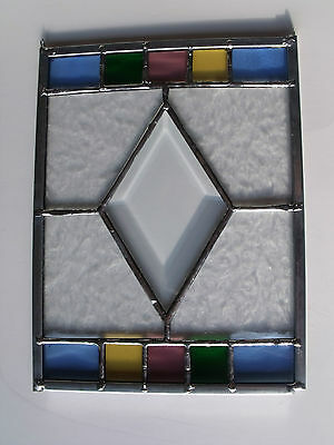 Stained Glass Window Sun Catcher Christmas Gift for Her Multi Colored 6.25 x8.25