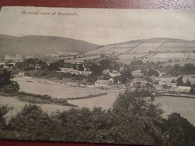 1908 Postcard General View of Bucknell Shropshire