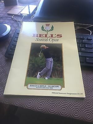 Bell's Scottish Open Golf Haggs castle Glasgow 1986 Official Programme
