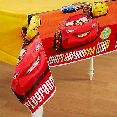 Disney CARS ~ (1) Plastic Table Cover ~ Birthday Party Decorations