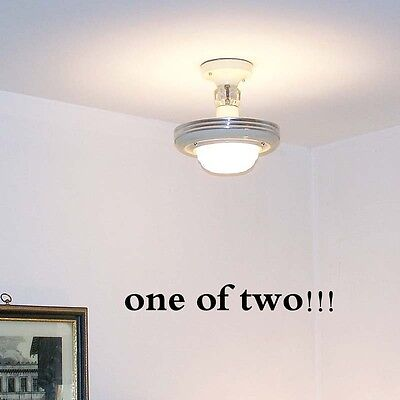 977 Vintage 30'S 40s CEILING LIGHT lamp chandelier fixture glass shade beige