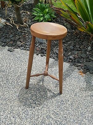 Rustic STOOL Vintage Timber Wooden Seat Industrial stool.